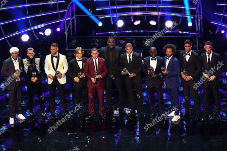 The Best Team- Ronaldinho Daniel Alves, Ramos, Luka Modric, Eden Hazard, Kylian Mbappe, N'Golo Kante, Marcelo, Raphael Varane, De rea