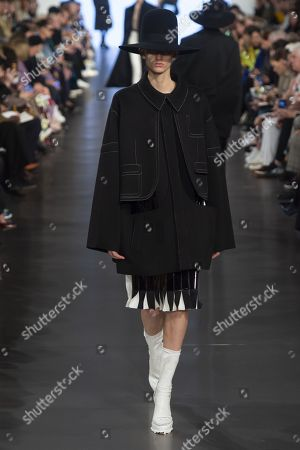 Stock Picture of SArah Menezes Potzelsberger on the catwalk
