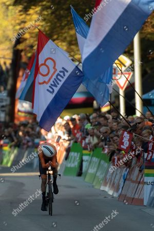 Tom Dumoulin of the Netherlands in action during the Men's Elite Individual Time Trial at the UCI Road Cycling World Championships in Innsbruck, Austria, 26 September 2018.
