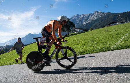 Tom Dumoulin of the Netherlands in action during the Men's Elite Individual Time Trial at the UCI Road Cycling World Championships, Innsbruck, Austria, 26 September 2018.