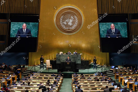 King Tupou VI, of Tonga, addresses the 73rd session of the United Nations General Assembly, at U.N. headquarters