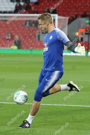 31 Robert Green for Chelsea FC during the EFL Cup match between Liverpool and Chelsea at Anfield, Liverpool