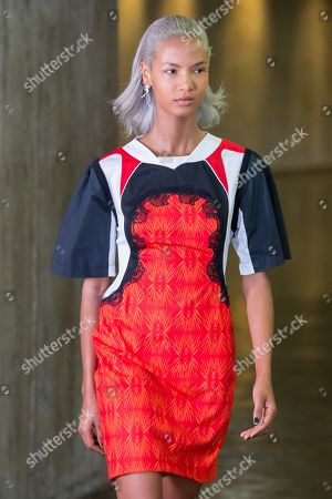 Stock Picture of Ariela Soares on the catwalk