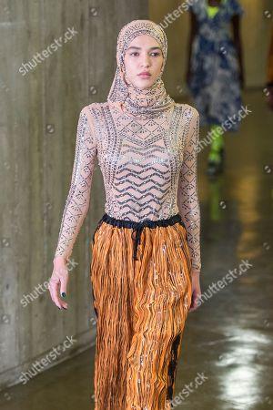 Editorial photo of Koche show, Runway, Spring Summer 2019, Paris Fashion Week, France - 25 Sep 2018