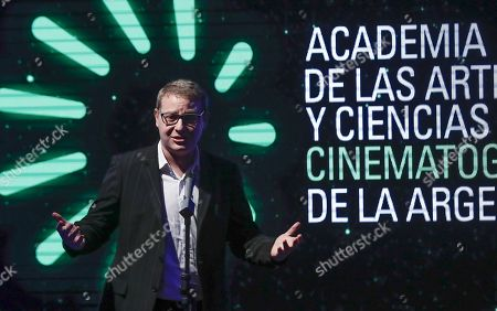 Axel Kuschevatsky, President of the Academy of the Arts and the Cinematographic Sciences of Argentina (AACCA) attends a ceremony to announce the film that will represent Argentina in the Goya Awards and the Oscars, in Buenos Aires, Argentina, 26 September 2018. The film 'El Angel' by director Luis Ortega will represent Argentina in Acadamy Awards and in the Spanish Goya Awards.