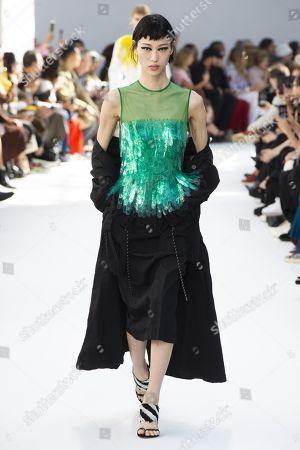 Sora Choi on the catwalk