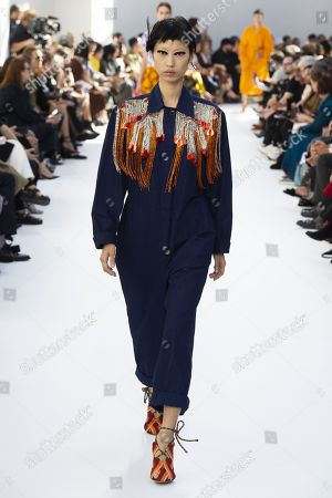 Stock Picture of Heejung Park on the catwalk
