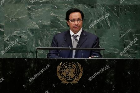 Jaber Al-Mubarak Al-Hamad Al Sabah. Kuwait's Prime Minister Sheikh Jaber Al-Mubarak Al-Hamad Al-Sabah addresses the 73rd session of the United Nations General Assembly, at the United Nations headquarters