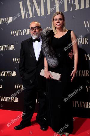 Spanish film director Alex de la Iglesia and his wife actress Carolina Bang