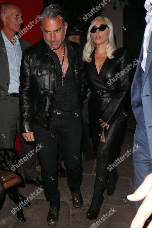 Stock Image of Lady Gaga and Christian Carino