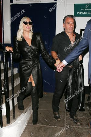 Stock Picture of Lady Gaga and Christian Carino