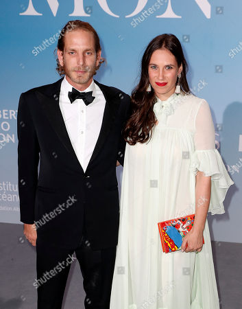 Andrea Casiraghi (L) and his wife Tatiana (R) attend the 2nd Monte-Carlo Gala for the Global Ocean 2018 in Monaco, 26 September 2018. The Monte Carlo Gala for the Global Ocean, hosted by the Prince Albert II of Monaco Foundation, is a fundraising auction, to support the Foundation's marine conservation initiatives.