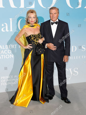 Princess Camilla of Bourbon-Two Sicilies, Duchess of Castro (L) and Prince Carlo of Bourbon-Two Sicilies, Duke of Castro (R) attend the 2nd Monte-Carlo Gala for the Global Ocean 2018 in Monaco, 26 September 2018. The Monte Carlo Gala for the Global Ocean, hosted by the Prince Albert II of Monaco Foundation, is a fundraising auction, to support the Foundation's marine conservation initiatives.