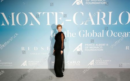 German model Charlott Cordes attends the 2nd Monte-Carlo Gala for the Global Ocean 2018 in Monaco, 26 September 2018. The Monte Carlo Gala for the Global Ocean, hosted by the Prince Albert II of Monaco Foundation, is a fundraising auction, to support the Foundation's marine conservation initiatives.