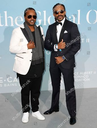 Norwegian musical duo Yosef Wolde-Mariam (L) and Tshawe Baqwa (R) attend the 2nd Monte-Carlo Gala for the Global Ocean 2018 in Monaco, 26 September 2018. The Monte Carlo Gala for the Global Ocean, hosted by the Prince Albert II of Monaco Foundation, is a fundraising auction, to support the Foundation's marine conservation initiatives.