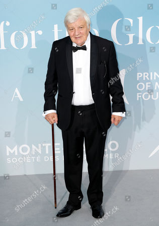 Stock Image of French actor Jacques Perrin attends the 2nd Monte-Carlo Gala for the Global Ocean 2018 in Monaco, 26 September 2018. The Monte Carlo Gala for the Global Ocean, hosted by the Prince Albert II of Monaco Foundation, is a fundraising auction, to support the Foundation?'s marine conservation initiatives.