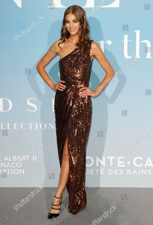 US model Samantha Gradoville attends the 2nd Monte-Carlo Gala for the Global Ocean 2018 in Monaco, 26 September 2018. The Monte Carlo Gala for the Global Ocean, hosted by the Prince Albert II of Monaco Foundation, is a fundraising auction, to support the Foundation?'s marine conservation initiatives.