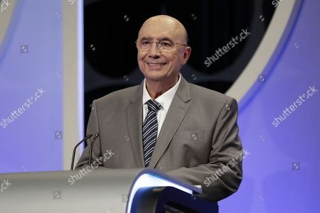 Presidential candidate of the Brazilian Democratic Movement Party (PMDB) Henrique Meirelles during a televised debate with candidates in presidential elections in Sao Paulo, Brazil, 26 September 2018. Presidential elections in Brazil are scheduled for 07 October 2018.