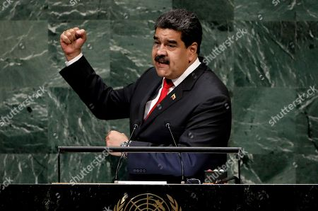 President of Venezuela Nicolas Maduro Moros speaks during the General Debate of the General Assembly of the United Nations at United Nations Headquarters in New York, New York, USA, 26 September 2018. The General Debate of the 73rd session will run from 25 September 2018 to 01 October 2018.