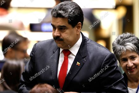 President of Venezuela Nicolas Maduro Moros arrives to speak during the General Debate of the General Assembly of the United Nations at United Nations Headquarters in New York, New York, USA, 26 September 2018. The General Debate of the 73rd session will run from 25 September 2018 to 01 October 2018.