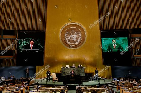 Editorial image of United Nations General Assembly in New York, USA - 26 Sep 2018