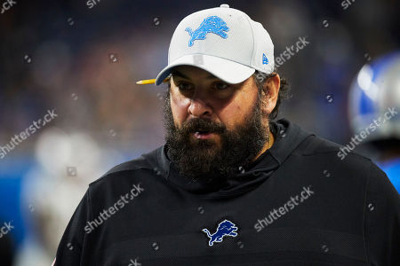 Detroit Lions head coach Matt Patricia prior to an NFL football game against the New England Patriots at Ford Field in Detroit
