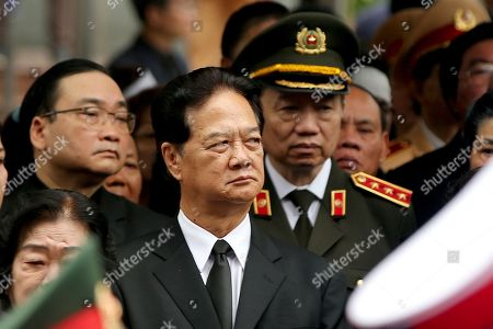 Vietnam's former Prime Minister Nguyen Tan Dung looks on during the National Funeral of Vietnam's President Tran Dai Quang, at the National Funeral House in Hanoi, Vietnam, 27 September 2018. President Tran Dai Quang died on 21 September 2018 at the age of 61.