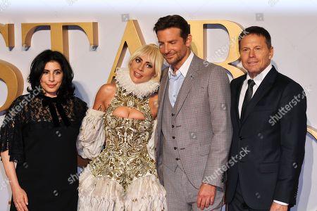 Sue Kroll, Lady Gaga, Bradley Cooper and Bill Gerber