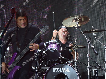 Robert Trujillo and Lars Ulrich Metallica