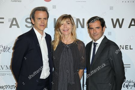Stock Picture of Guillaume Houze, Nathalie Dufour and Nicolas Houze,