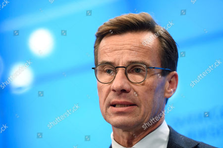 Swedish Moderate party leader Ulf Kristersson gives a press conference after meeting with the Speaker of Parliament in Stockholm, Sweden, 27 September 2018. All party leaders will meet with the Speaker of Parliament who will then decide who to nominate for Prime Minister. No party got enough votes in the 09 September elections to form a majority government. Sweden's prime minister Stefan Lofven lost a no-confidence vote in parliament on 25 September, forcing him to step down.