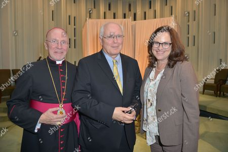 Bishop Peter Eaton, author David Lawrence Jr. and guest