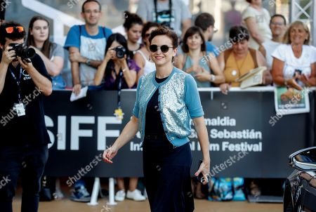 Stock Image of Spanish actress Leonor Watling arrives to attend the San Sebastian International Film Festival, in San Sebastian, Basque Country, Spain, 27 September 2018. The 66th edition of the SSIFF runs from 21 to 29 September.