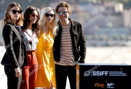 Cast members, actors (L-R) Mia Goth, Juliette Binoche, Agata Buzek and Robert Pattinson pose during the photocall of the film 'High Life' presented in the official section of the San Sebastian International Film Festival (SSIFF), in San Sebastian, Basque Country, Spain, 27 September 2018. The 66th edition of the SSIFF runs from 21 to 29 September.