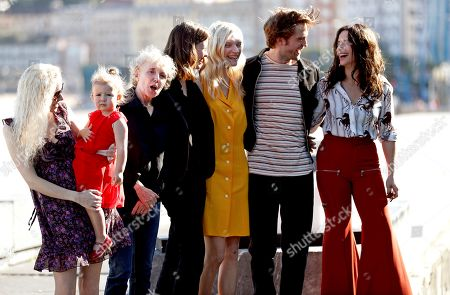 Cast members, actors Mia Goth (4-L), Juliette Binoche (R), Agata Buzek (3-R) and Robert Pattinson (2-R) with toddler Scarlett Lindsey (2-L) pose during the photocall of the film 'High Life' presented in the official section of the San Sebastian International Film Festival (SSIFF), in San Sebastian, Basque Country, Spain, 27 September 2018. The 66th edition of the SSIFF runs from 21 to 29 September.