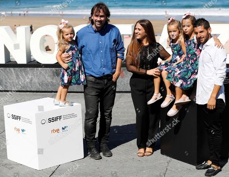 Film director Isaki Lacuesta (2-L) and actors/cast members Israel Gomez (R) and Rocio Rendon (C) pose during the photocall of 'Entre dos aguas' at the San Sebastian International Film Festival, in San Sebastian, Basque Country, Spain, 27 September 2018. The 66th edition of the SSIFF runs from 21 to 29 September.