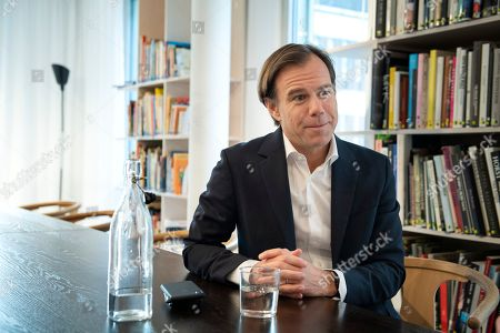 Swedish multinational clothing-retail company H&M CEO Karl-Johan Persson during an interview at the company's headquarters in Stockholm, Sweden, 27 September 2018. Persson presented the company's third quarter results on 27 September 2018.