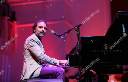 Stock Picture of Eric Ranzoni playing at the London International Boogie Woogie Festival