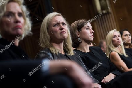 Ashley Estes Kavanaugh (C-R) listens to her husband, Judge Brett Kavanaugh, during the Senate Judiciary Committee hearing on the nomination of Brett Kavanaugh to be an associate justice of the Supreme Court of the United States, on Capitol Hill in Washington, DC, USA, 27 September 2018. US President Donald J. Trump's nominee to be a US Supreme Court associate justice Brett Kavanaugh is in a tumultuous confirmation process as multiple women have accused Kavanaugh of sexual misconduct.