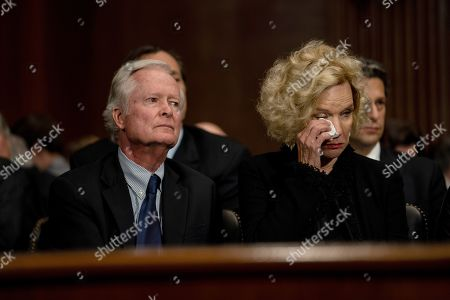 Edward Kavanaugh (L) and Martha Kavanaugh (R) parents of Supreme Court nominee Judge Brett Kavanaugh during the Senate Judiciary Committee hearing on the nomination of Brett Kavanaugh to be an associate justice of the Supreme Court of the United States, on Capitol Hill in Washington, DC, USA, 27 September 2018. US President Donald J. Trump's nominee to be a US Supreme Court associate justice Brett Kavanaugh is in a tumultuous confirmation process as multiple women have accused Kavanaugh of sexual misconduct.