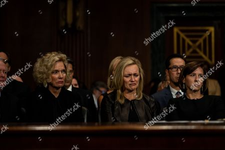 Stock Picture of From left, Martha Kavanaugh, Laura Cox Kaplan, and Ashley Kavanaugh. Judge Brett M. Kavanaugh testified in front of the Senate Judiciary committee regarding sexual assault allegations at the Dirksen Senate Office Building on Capitol Hill