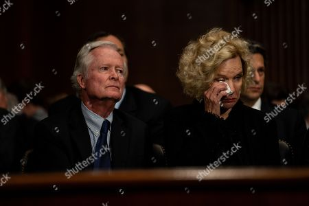 Edward Kavanaugh and Martha Kavanaugh, Brett Kavanaugh's parents. Judge Brett M. Kavanaugh testified in front of the Senate Judiciary committee regarding sexual assault allegations at the Dirksen Senate Office Building on Capitol Hill