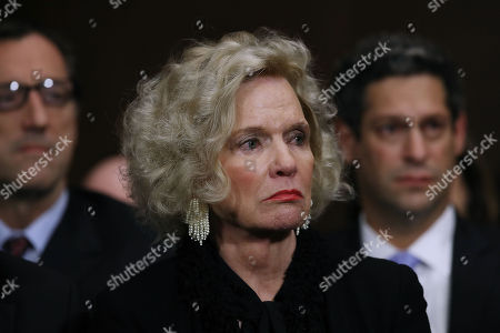 Martha Kavanaugh listens to her son, Judge Kavanaugh testify before the Senate Judiciary Committee during his Supreme Court confirmation hearing in the Dirksen Senate Office Building on Capitol Hill.