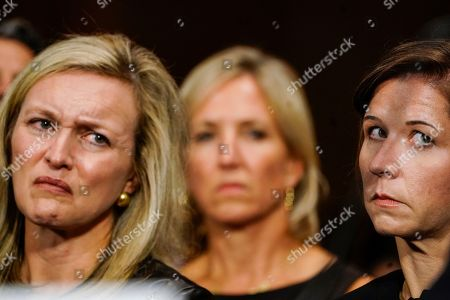Stock Picture of Ashley Kavanaugh, right, and Laura Cox Kaplan, left, at a Senate Judiciary Committee hearing