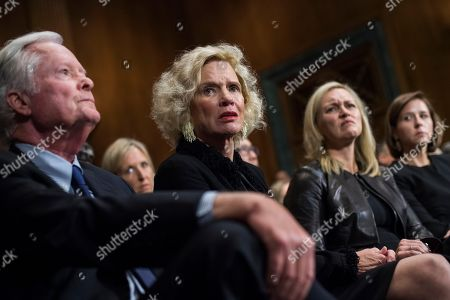 Martha Kavanaugh and Edward Kavanaugh listen to their son, Judge Brett Kavanaugh, during the Senate Judiciary Committee hearing on his nomination be an associate justice of the Supreme Court of the United States, focusing on allegations of sexual assault by Kavanaugh against Christine Blasey Ford in the early 1980s.