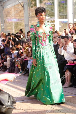 Dany Rose on the catwalk