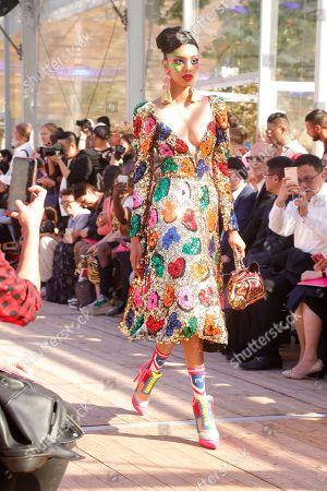 Editorial photo of Manish Arora show, Runway, Spring Summer 2019, Paris Fashion Week, France - 27 Sep 2018
