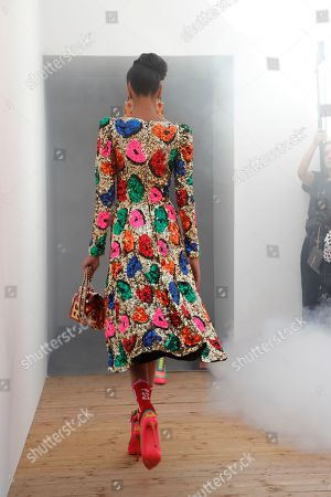 Diya Prabhaker on the catwalk