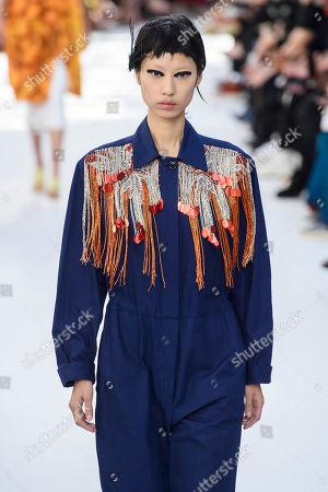 Editorial picture of Dries Van Noten show, Runway, Spring Summer 2019, Paris Fashion Week, France - 26 Sep 2018