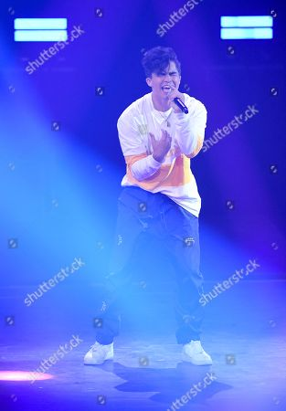 US singer Alex Aiono performs during the 'YouTube Goldene Kamera Digital Award 2018' ceremony in Berlin, Germany, 27 September 2018. The best German web video producers in eight categories will be awarded at the event.